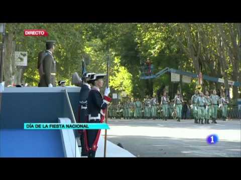 La Legión desfilando en Madrid 2013