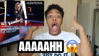 "SandyRedd Gets 4 Turns with Bishop Briggs' ""River"" - The Voice 2018 Blind Auditions 