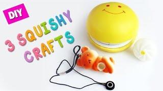 5 minute crafts - 3 Easy Squishy Hacks / Crafts #2 - simplekidscrafts