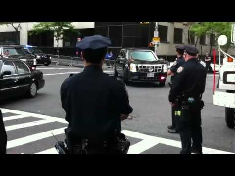 OBAMA'S PRESIDENTIAL MOTORCADE IN NEW YORK, NYPD, NYPD ESU, FDNY, U.S. SECRET SERVICE 1.