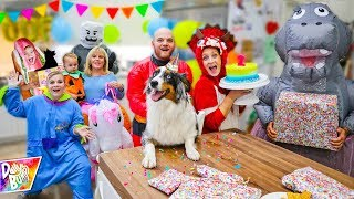 Halloween Surprise Birthday Party For Our Puppy! (Mystery Present!)