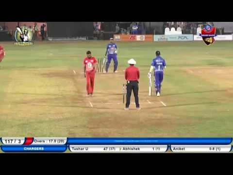 Aniket Kawade highlights of GSCPL 4 Challengers vs Chargers match