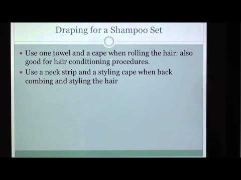 (16) Cosmetology: Draping Procedures: Theory for State Board  Written Exam