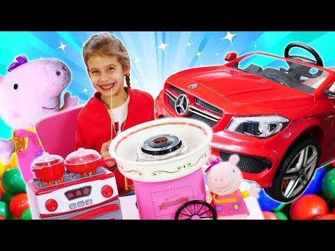 Свинка Пеппа и бассейн с шариками. Игры в прятки с игрушками. Видео для девочек