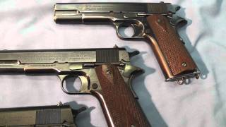 Colt's Model 1911 Pistol .45 ACP U.S. Ordnance Inspection Marks and Colt Trademarks
