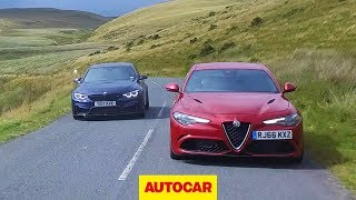 Alfa Romeo Giulia Quadrifoglio vs 2018 BMW M3 Competition Pack | Super saloon review | Autocar