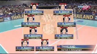 Thailand VS Japan : 2013 FIVB Women
