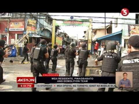 CAUGHT IN AKSYON | Demolisyon sa Caloocan, nauwi sa barilan