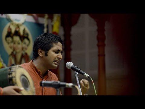 "Vid. Abhishek Raghuram sings Sri Swamiji's Swaradevata Kriti ""Ri Ri Swrooditam"""
