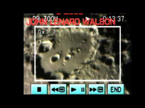Clavius Moon Crater filmed from Earth for Moon Week UK 2009