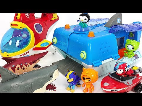 Octonauts Gup-W Reef rescue, Paw Patrol transforming Sub Patroller! Defeat Shark herd! #DuDuPopTOY