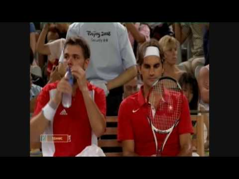 Roger Federer and Stanislas Wawrinka - Olympic Gold