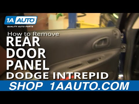 How To Install Replace Rear Door panel Dodge Intrepid 98-04 1AAuto.com