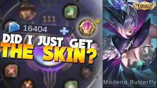 Download 16K Diamonds in Magic Wheel for The New Miya Legendary Skin Mobile Legends 3Gp Mp4
