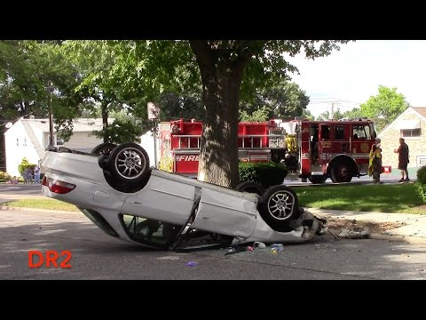 Clifton Fire Department Motor Vehicle Accident Car VS Tree With Rollover 6-29-16