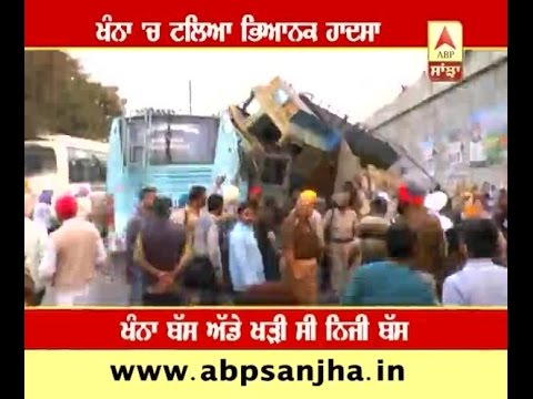 Major accident in Khanna, truck falls  on bus