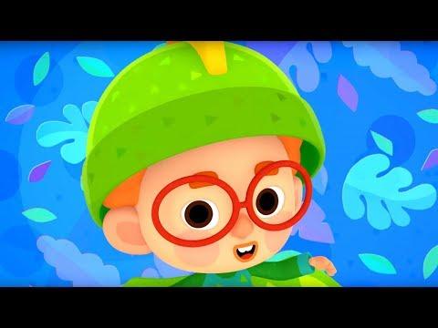 Четверо в кубе - Настоящий динозавр - серия 9 - современные мультики для детей