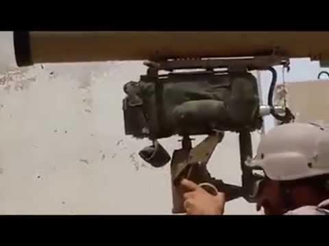 Iraq War 2015 : Iraqi Shia Militia Blow Up ISIS Car Bomb With ATGM