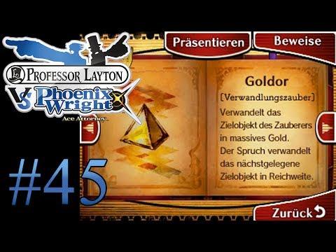 Let's Play Professor Layton Vs. Phoenix Wright Ace Attorney #45 Goltor anstatt Goldor!