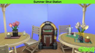 The Sims 4 Music || Summer Strut Station || SimsAM - Cruel Summer