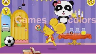 panda app where baby panda plays with colors. color game for kids. colors 2017