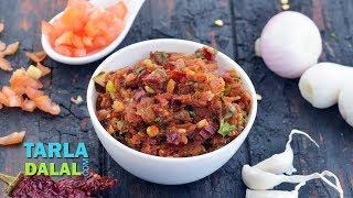 Tomato Garlic Chutney by Tarla Dalal