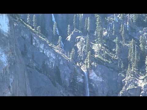 Sentinel Falls from Upper Yosemite Falls Trail Video