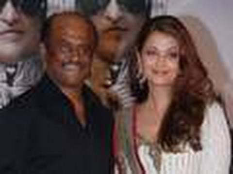 Ash & Rajnikanth at The Robot Aka Enthiran Music Launch
