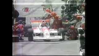 DUELO ESPETACULAR entre Bobby Rahal e Emerson Fittipaldi nas ruas de DETROIT em 1991