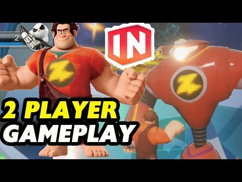 Disney Infinity: Wreck it Ralph wrecks Zurg Bots - 2 Player Battle in Toy Box Mode