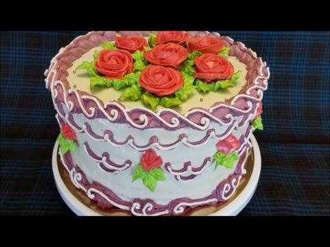 Пошаговый РЕЦЕПТ приготовления торта КРЕЩАТЫЙ ЯР Украшение торта кремом в стиле ЛАМБЕТ