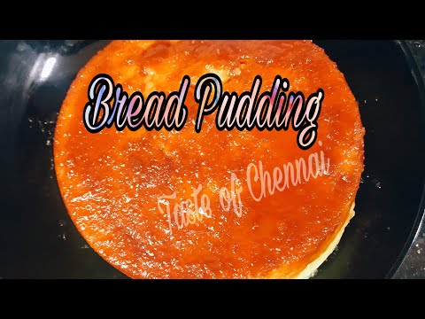 Delicious Bread Pudding ~ No Oven ~ No Eggs | Bread Custard Pudding Recipe | Easy Bread Pudding