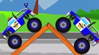 Rakasa Truk Stunts   Permainan anak video   Transportasi untuk anak   Monster Truck Stunts