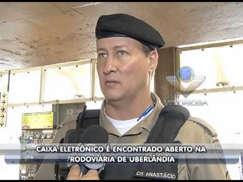Caixa eletrônico é encontrado aberto na Rodoviária de Uberlândia