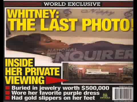 Coffin With Dead Body Whitney Houstons Dead Body in