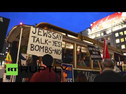 USA: Pro-Palestine protesters rally outside AIPAC meeting