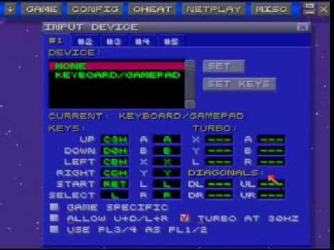 Configurando joystick ou teclado no Zsnes - Emulador do Super Nintendo