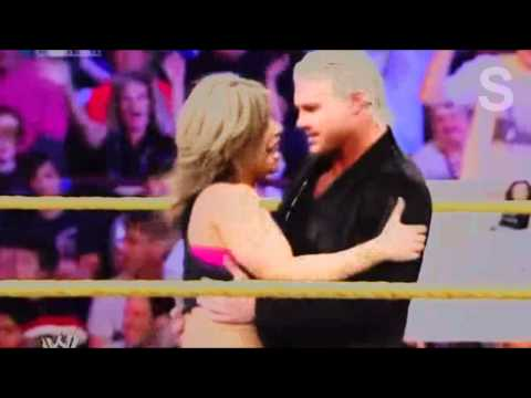 wwe nxt kaitlyn and dolph ziggler are caught kissing wwe