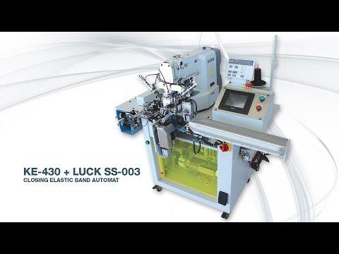 KE-430+LUCK SS-03 CLOSING ELASTIC BAND AUTOMAT
