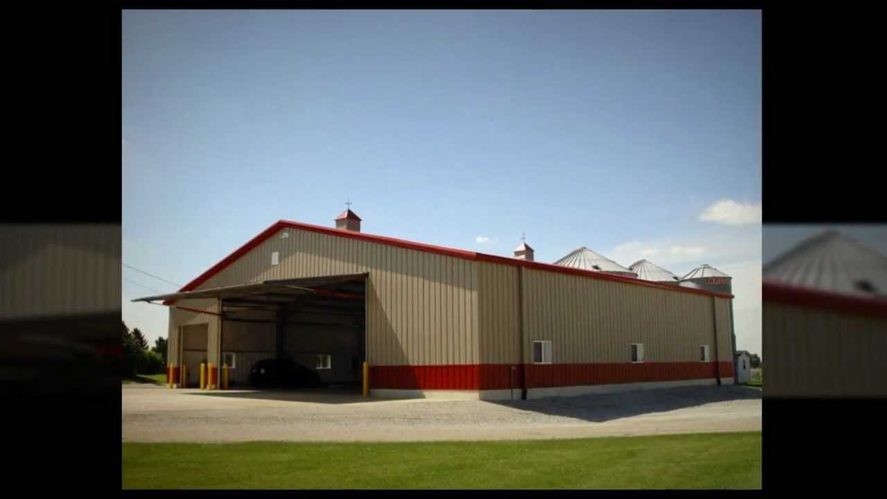 Steel agricultural buildings prefabricated metal barns pre for Prefab pole barn