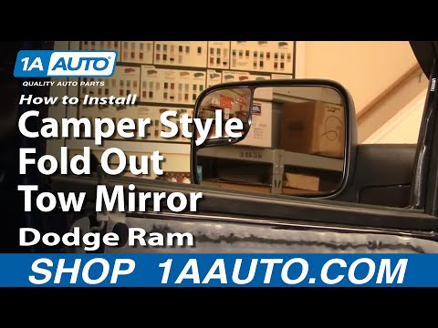 How To Install Repair Replace Camper Style Fold Out Tow Mirrors Dodge Ram 02-08