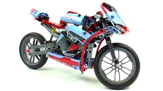Lego Technic 42036 Street Motorcycle Speed Build And Review
