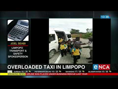 Overloaded taxi in Limpopo carrying 58 children