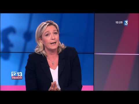 Européennes 2014 - Marine Le Pen invitée du 12-13 Dimanche