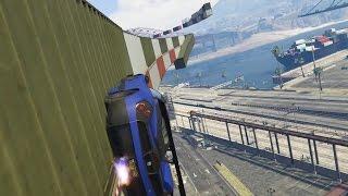 WAT EEN REDDING HIER! (GTA V Online Funny Races)