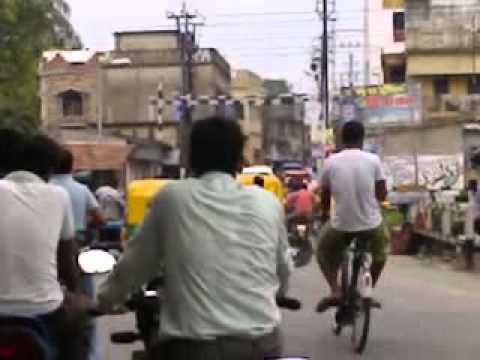 Mumbai Local Train Passing N Traffic video
