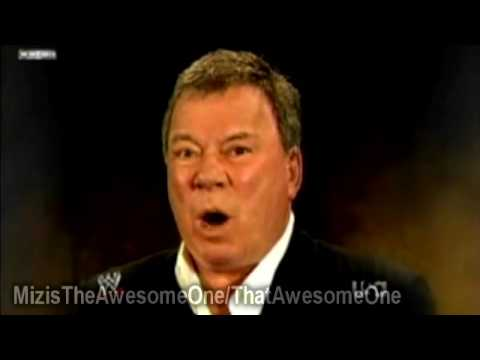 Wwe Monday Night Raw 02.01.2010 William Shatner Sings Wwe Superstars Entrance Themes video