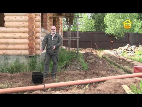Видео как сделать дренаж участка