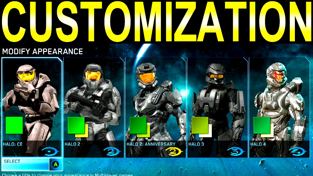 Halo The Master Chief Collection Customization Youtube