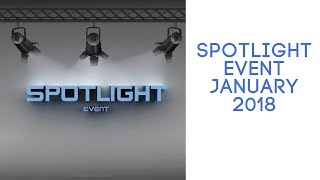 Spotlight event January 2018